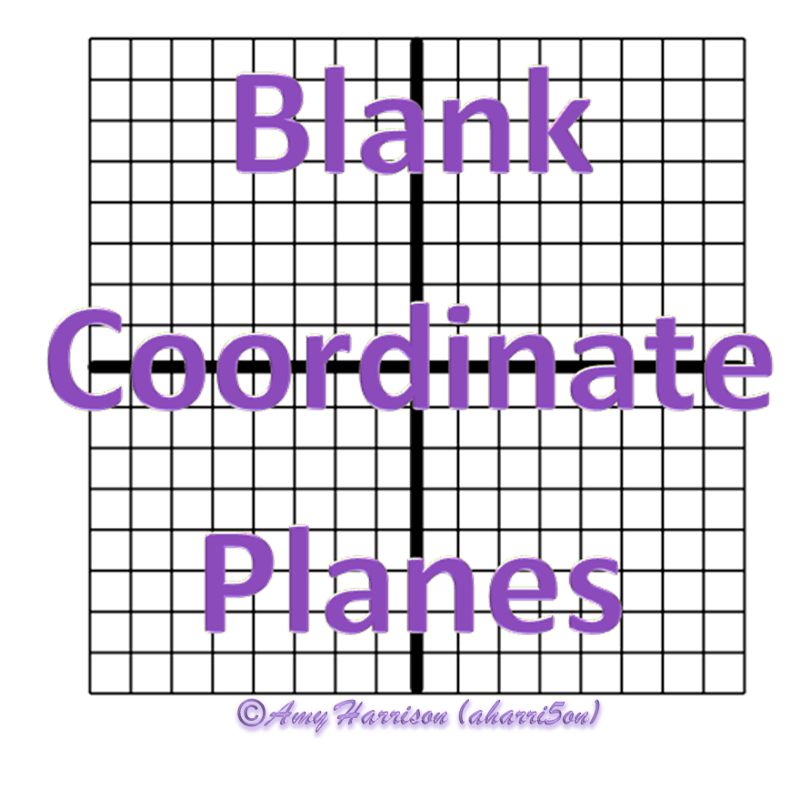 Blank Coordinate Planes – Reproducible