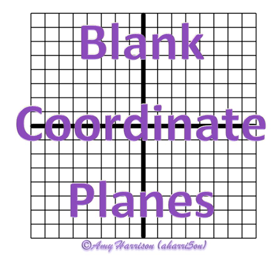 Blank Coordinate Planes u2013 Reproducible : teaching math in ...