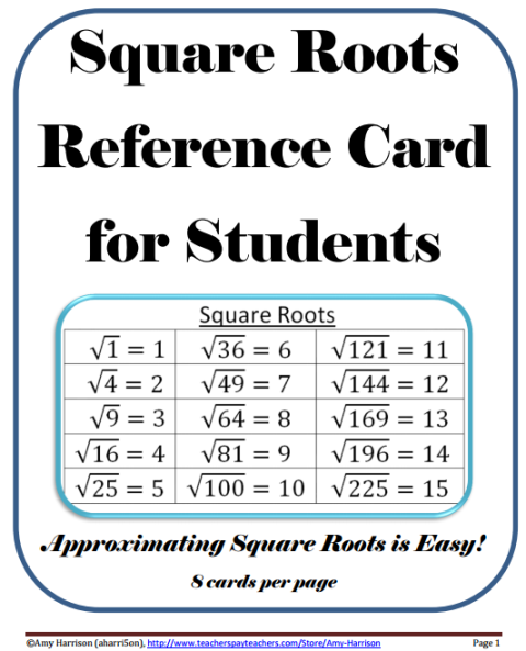 square roots of perfect squares | teaching math in a virtual reality