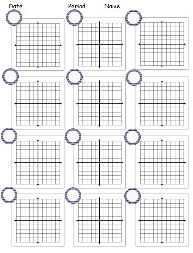 Worksheets Graphing Circles Worksheet printable coordinate planes teaching math in a virtual reality example of blank plane worksheet the circles are for problem numbers note 5 spaces on each side x axis and y axis