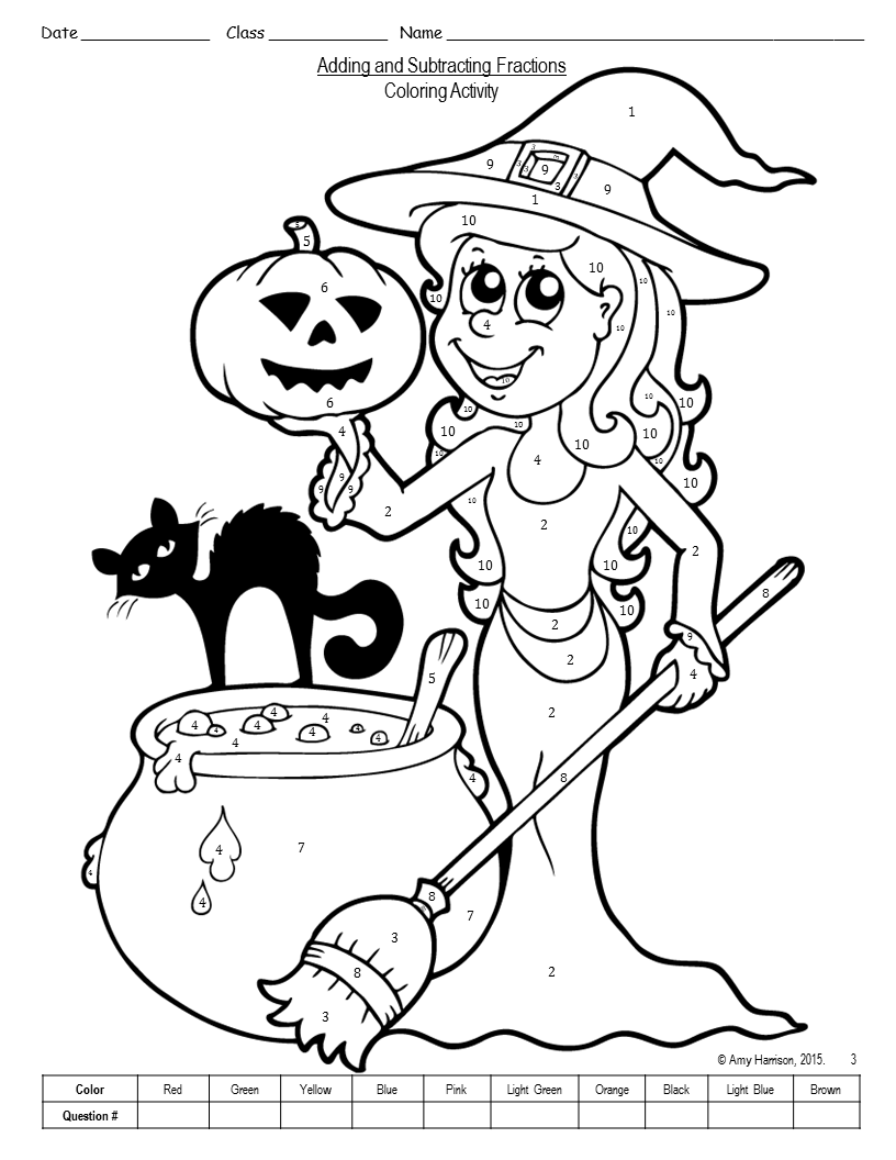 check out some other halloweenfall coloring activities decimaloperations_halloweencoloring_pin1 evaluatingexpressionsfallhalloweenpin - Coloring Activities